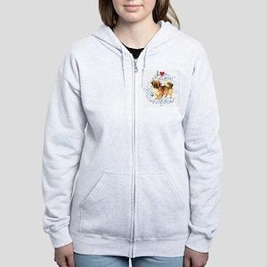 Tibetan Spaniel Women's Zip Hoodie
