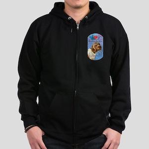 Wirehaired Pointing Griffon Zip Hoodie (dark)