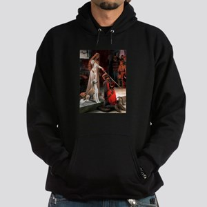 The Accolade with a Saluki Hoodie (dark)