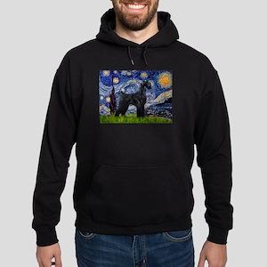 Starry Night Schnauzer Hoodie (dark)