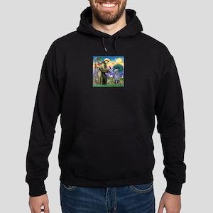 St Francis Deerhound Hoodie (dark)