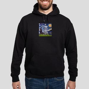 Starry Night Deerhound Hoodie (dark)