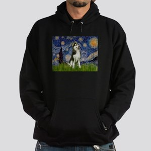 Starry Night & Husky Hoodie (dark)