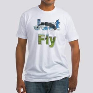 Just Fly Powered Paragliding Fitted T-Shirt