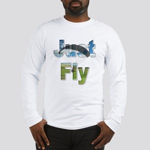 Just Fly Powered Paragliding Long Sleeve T-Shirt