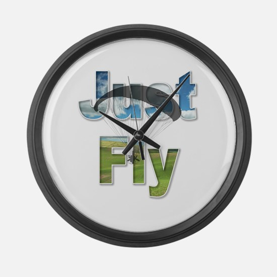 Just Fly Powered Paragliding Large Wall Clock