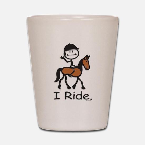 English Horse Riding Stick Figure Shot Glass