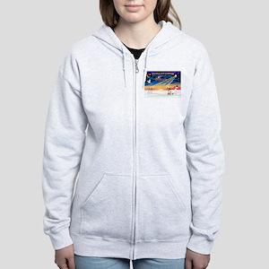 XmasSunrise/Tibet Ter Women's Zip Hoodie