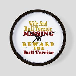 Wife & Bull Terrier Missing Wall Clock