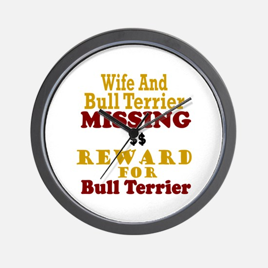Wife & Bull Terrier Missing Wall Clock