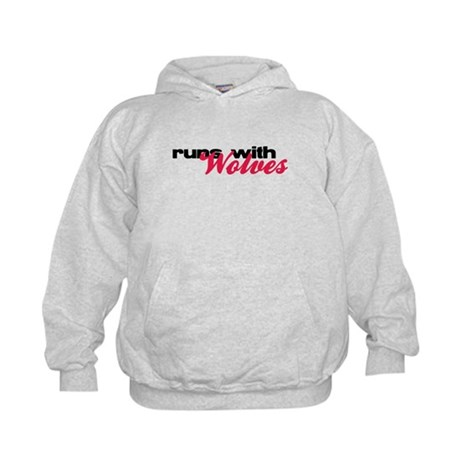 Runs With Wolves Kids Hoodie