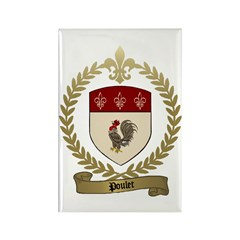 POULET Family Crest Rectangle Magnet (100 pack)