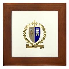 POTHIER Family Crest Framed Tile