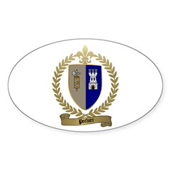 POTHIER Family Crest Oval Decal