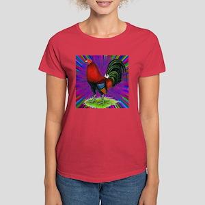 Colorful Gamecock Women's Dark T-Shirt