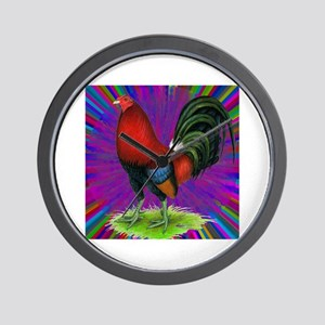 Colorful Gamecock Wall Clock