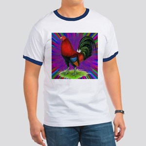 Colorful Gamecock Ringer T