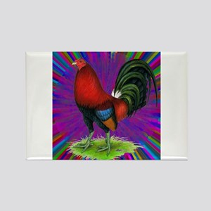 Colorful Gamecock Rectangle Magnet
