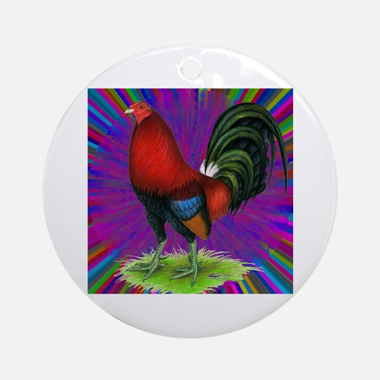 Colorful Gamecock Ornament (Round)
