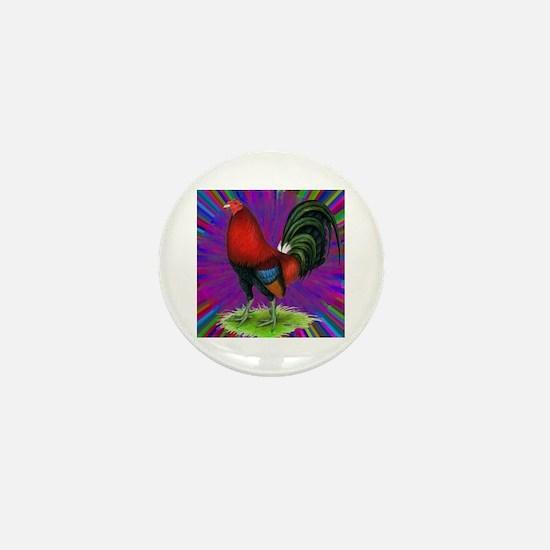 Colorful Gamecock Mini Button