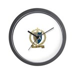 POITIERS Family Crest Wall Clock