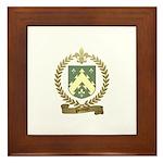 POITEVIN Family Crest Framed Tile