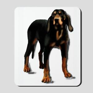 black and tan hound Mousepad