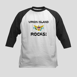Virgin Island Rocks! Kids Baseball Jersey