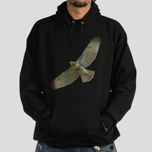 Soaring Red-tail Hawk Hoodie (dark)
