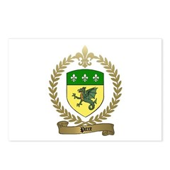 PITRE Family Crest Postcards (Package of 8)