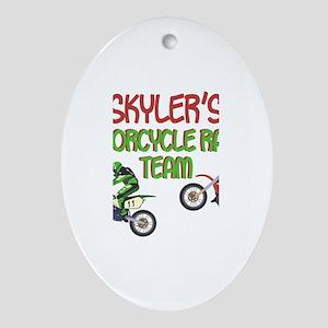 Skyler's Motorcycle Racing Oval Ornament