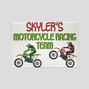 Skyler's Motorcycle Racing Rectangle Magnet
