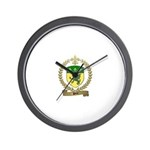 PITRE Family Crest Wall Clock