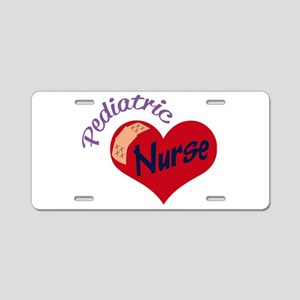 Pediatric Nurse Aluminum License Plate