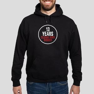 13 Years Clean & Sober Hoodie (dark)