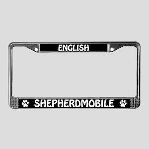 English Shepherdmobile License Plate Frame