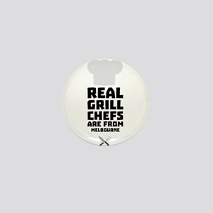Real Grill Chefs are from Melbourne Cw Mini Button