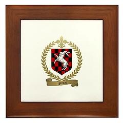 PINEAU Family Crest Framed Tile