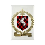 PINEAU Family Crest Rectangle Magnet (100 pack)