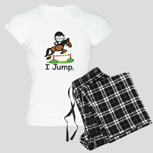 Horse Jumping Stick Figure Women's Light Pajamas