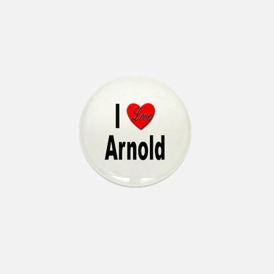 I Love Arnold Mini Button