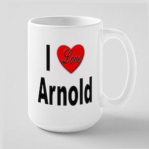 I Love Arnold Large Mug