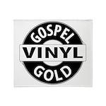 Gospel Vinyl Gold Throw Blanket