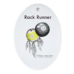 Rack Runner Oval Ornament