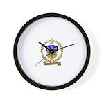 PICHOT Family Crest Wall Clock