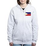 Philippine Flag Women's Zip Hoodie