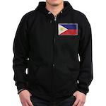 Philippine Flag Zip Hoodie (dark)
