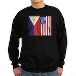 Philippine Flag & US Flag Sweatshirt (dark)