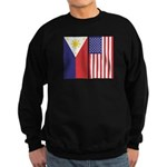 Philippine Flag & US Flag Sweatshirt (dark)