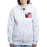 Philippine Flag & US Flag Women's Zip Hoodie